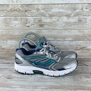 Saucony Cohesion 9 Womens 10 Silver Teal